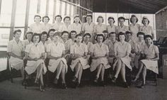 Nurses in Guadalcanal, Solomons, July 1944 ~My Aunt Carol was a Navy Nurse might be in this photo she met and cared for and married my Uncle Nick after he was wounded and won a medal after this island battle
