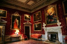 Formal reception room, Holkham Hall.