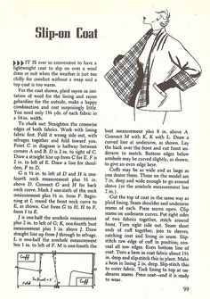 FREE Vintage Slip-on Coat Sewing Pattern and Tutorial