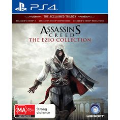Buy Assassin's Creed: Ezio Collection on Xbox One at Mighty Ape NZ. Assassin's Creed: The Ezio Collection includes: Assassin's Creed II Assassin's Creed: Brotherhood Assassin's Creed: Revelations Make history . Jeux Xbox One, Xbox One Games, Ps4 Games, Playstation Games, Games Consoles, Assassin's Creed Brotherhood, Video X, Video Game, Zulu