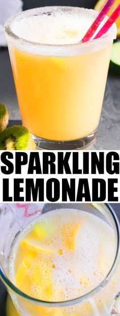 Quick and easy SPARKLING LEMONADE RECIPE (non alcoholic), made with simple ingredients. This sparkling lemonade cocktail is refreshing and bubbly. {Ad} From cakewhiz.com