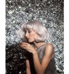 silver hair and silver glitter #discofever