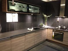 Ikea sofielund cabinets with charcoal benches and wall tiles