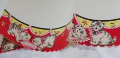 Vintage 1950s Shelf Liner Paper  Kittens / Cats by soldiersuzanne