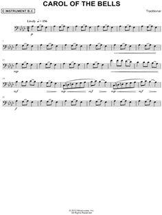 """Képtalálat a következőre: """"carol of the bells cello solo sheet music"""""""