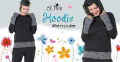 Hoodie Winter Magic Hooded sweater with pockets In a magical way ice flowers adorn the window - our Hoodie Winter Magic from the Classics Collection adorns you! We've created this. Winter Magic, Hooded Sweater, Winter 2017, Mom, Hoodies, Classic, Sweaters, Handmade, Window