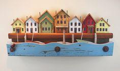 Four Boats in a Storm, kinetic folk art by Jim Dixon.  See video at www.jimdixonartist.com