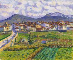 Darío de Regoyos - Paisaje de Hernani (c.1900)