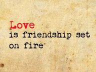 Quotes and inspiration about Love QUOTATION – Image : As the quote says – Description Love is friendship on fire. 8 Inspiring Quotes About Love and Dating to Jumpstart Your Weekend: Smitten Inspirational Quotes About Love, Great Quotes, Quotes To Live By, Fabulous Quotes, Quote Girl, R M Drake, Jiddu Krishnamurti, Sex And Love, My Love