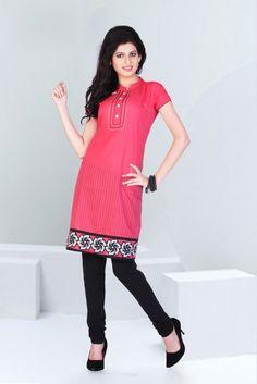 Cigarette Pants Outfit, Kurta Designs, Best Web, Salwar Kameez, Ethnic, Tunic Tops, Stripes, Designer Kurtis, Saree