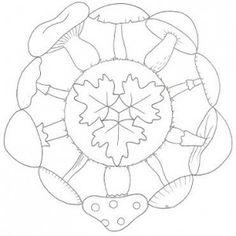 autumn mandala coloring page Mandala Coloring Pages, Coloring Book Pages, Coloring Pages For Kids, Coloring Sheets, Halloween Crafts For Toddlers, Crafts For Kids, Fall Preschool, Autumn Crafts, Mandala Design