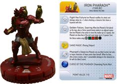 Iron Pharaoh (1500 BC) #051 Invincible Iron Man Booster Set Marvel Heroclix - Marvel: Invincible Iron Man - Heroclix