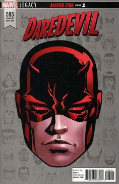 Daredevil Comic Issue 595 Limited Headshot Variant Modern Age First Print 2017