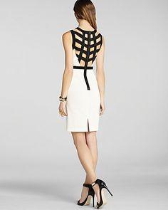 BCBGMAXAZRIA Dress - Mollie Strappy Back Sheath | Bloomingdales