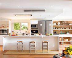 Diy Kitchen islands Plans Best Of Architectures Inspiring Oversized Kitchen island Plans Diy Kitchen Island, Open Kitchen, Kitchen Decor, Kitchen Design, Kitchen Cabinetry, Kitchen Flooring, Interior Design Tips, Home Interior, Interior Decorating