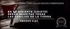 """Día 3 - Hechos 3 """"En su simiente serán benditas todas las familias de la tierra"""" #Devocional #LibroDeLosHechos #IcaRiosXela"""