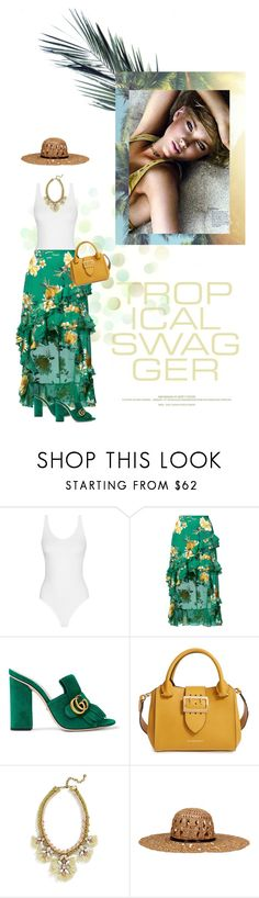 """Sri Lanka"" by seafreak83 on Polyvore featuring Alice + Olivia, Gucci, Burberry, BaubleBar, KOCCA and Schone"