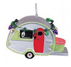 Ceramic Teardrop Camper Travel Trailer Christmas Ornament with Lights…