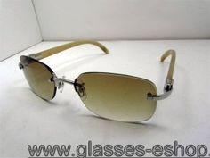 3d55facbd4be Cartier 3524015 Yellow Buffalo Sunglasses Silver with Brown lens