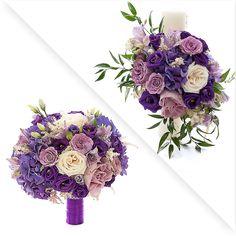 pachete de nunta buchet de mireasa + 2 lumanari la preturi speciale https://www.floridelux.ro/pachet-nunta-flori-mov.html