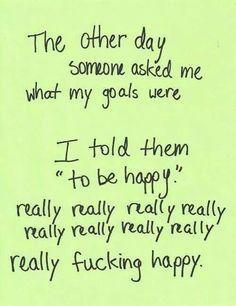 Like really happy!