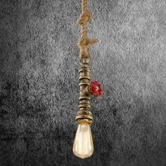Kreatívne lanové závesné svietidlo v tvare priemyselného potrubia v staromosádznej farbe Led, Cluster Pendant Light