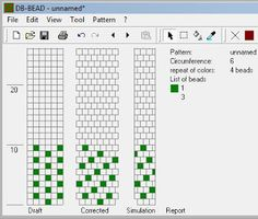 Koraliki tudzież: Wzory sznurów szydełkowo-koralikowych 6. Cieniowana (z jednej wielkości koralików). Sekwencja na 6k w rzędzie, na 104 koraliki (4 puste po prostu pomijamy).