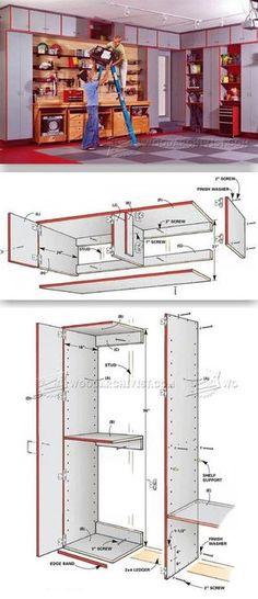 Garage Storage System Plans - Workshop Solutions Projects, Tips and Tricks | WoodArchivist.com