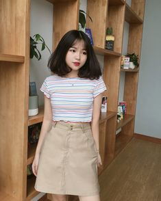 Pretty Girl of Asian - Smile Girl Beauty Ulzzang Short Hair, Korean Short Hair, Ulzzang Korean Girl, Cute Korean Girl, Asian Girl, Ulzzang Fashion, Korean Fashion, Casual Outfits, Cute Outfits