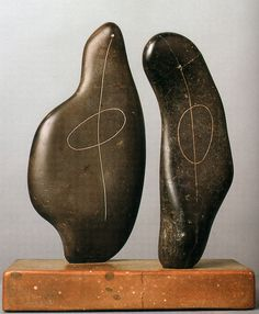 formlinedot:  henry moore - two forms - 1934