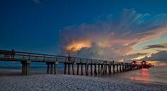 #bridge #ocean #beach #sunset #hdr
