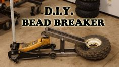 Shop Project DIY Tire Bead Breaker using Hydraulic Floor Jack and Scrap Metal Homemade Tool Metal Working Tools, Old Tools, Sandblasting Cabinet, Welding Tools, Metal Welding, Welding Shop, Diy Welding, Stoff Design, Garage Tools