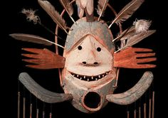 1994 Inuit Mask Alaska ca Inuit Kunst, Inuit Art, Native Art, Native American Art, Cardboard Mask, Masks Art, Clay Masks, Tlingit, Spirited Art