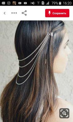 Women Silver Rain Drops Back Front Head Chain Fashion Hair Pin Bolywood Bridal