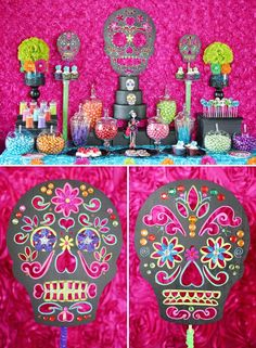 Trend+Alert:+DIY+Day+of+the+Dead+Sugar+Skull+Party+Decorations