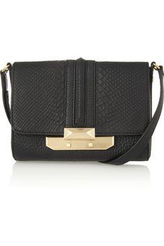 Rebecca MinkoffLeo snake-effect leather shoulder bag