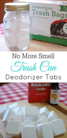 Trash Can Deodorizer Tabs smelly trash can baking soda air freshener diy essential oils Deep Cleaning Tips, House Cleaning Tips, Cleaning Hacks, Diy Hacks, Cleaning Products, Cleaning Checklist, Cleaning Recipes, Baking Soda Shampoo, Baking Soda Uses