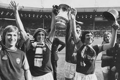 Celebrating the 1975 F.A cup victory over Fulham