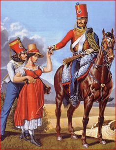 French; Hussar 6th hussars & Sergeant 5th Hussars 1813-14