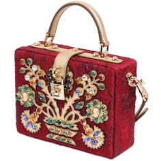 DOLCE & GABBANA Embellished Brocade Dolce Bag (374.330 RUB) ❤ liked on Polyvore featuring bags, handbags, shoulder bags, red shoulder bag, embellished handbags, dolce&gabbana, dolce gabbana handbag and embellished purses