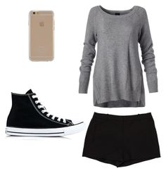 """""""Untitled #7"""" by thatgirlsamy ❤ liked on Polyvore featuring L'Agence, Converse and Agent 18"""