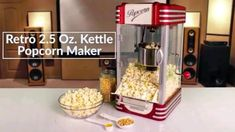 Pops up to 10-cups of popcorn per batch  Perfect for use with all Nostalgia Popcorn Kits! (Theater Hot Air & Kettle Kit-KPK400, PCJ30-Soft shelled Popping Kernels, PPB600-Reusable Popcorn Bowls, PCSP5-Pre-Measured Coconut Oil Popcorn Kit) Coconut Oil Popcorn, Popcorn Oil, Best Popcorn, Popcorn Maker, Nostalgia Quotes, Kettle Popcorn, Childhood Quotes, Stainless Steel Kettle, Best Juicer