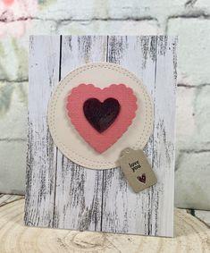 Valentine's card.  #sizzixlifestyle #sizzix #papertreyink  www.sharon-curtis.com