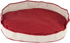 CPC Heavy Canvas Tote Cuddler Oval 40 x 32 x 10-Inch Pet Bed, Large, Red -- Visit the image link more details.