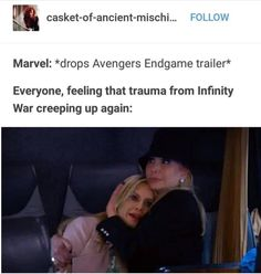 the fandom at that time, in a summary Avengers Memes, Marvel Memes, Marvel Dc Comics, Marvel Avengers, Stucky, Avengers Infinity War, Marvel Characters, Marvel Cinematic Universe, Fangirl