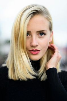 Deep side part & volume.  In order to put a modern spin on your long bob, infuse the straight locks with a little bit of volume and finish off the look with a messy side-part: