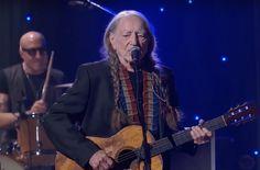 See Willie Nelson perform 'Imagine' at John Lennon's 75th birthday concert.