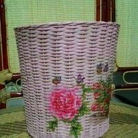 Rattan Basket, Organization, Home Decor, Getting Organized, Organisation, Decoration Home, Room Decor, Interior Design, Home Interiors