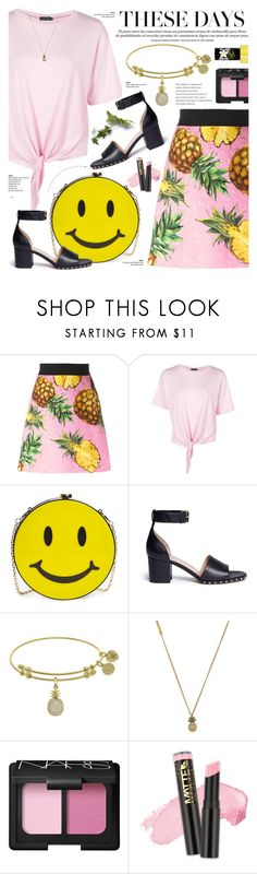 """""""Trending"""" by cly88 ❤ liked on Polyvore featuring Dolce&Gabbana, Boohoo, Natasha, Valentino, Marc Jacobs, NARS Cosmetics, Rimmel, food, polyvorecontest and trendreport"""