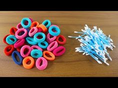 💙রাবার ব্যান্ড দিয়ে ক্র্যাফট আইডিয়া 🚲 Awesome Craft With Hair Rubber Ban. Diy Lace Ribbon Flowers, Paper Flowers Craft, Flower Crafts, Jute Crafts, Paper Crafts, Diy Crafts To Sell, Crafts For Kids, Craft From Waste Material, Mini Craft